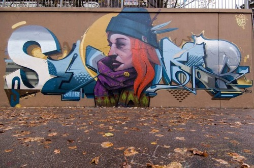 "widewalls-artmagazine:   Semorthemadone & MrWoodland collab entitled ""Sweet November"" that won the first place at ""Herbst Battle Jam"" in Augsburg, Germany http://www.widewalls.ch/artist/mr-woodland/"