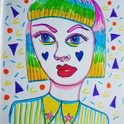 90s 80s patterns and rainbow lady scribbles #80s #90s #doodles #sketch #portrait #sketching #artsy #art #perthcreatives #perthartist #illustration #artworks #perthstagram #perthisok #perthstyle #perthartist #illustration #rainbow #80spatterns