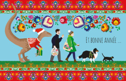 Our Polish Folk inspired Christmas Card, since we just came back from Warsaw. And a Happy New Year!