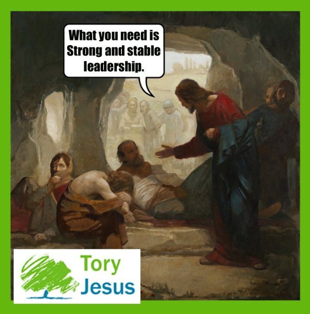 mjmoss: Tory Jesus is my new favourite meme – UK Election