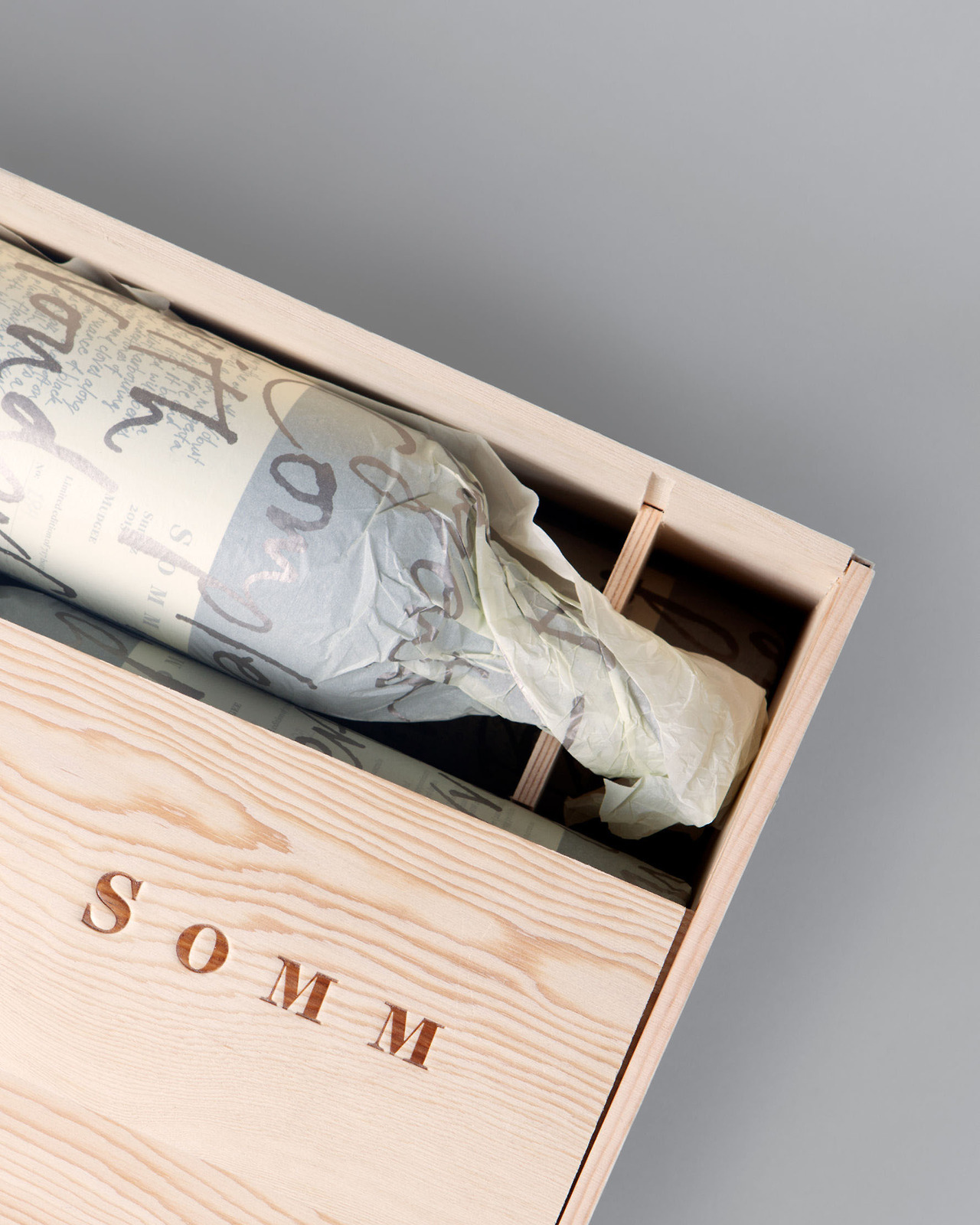 "Packaging for Somm / Niche Wine Co. by Frost ""The sommelier is the most trusted and knowledgeable figure in the world of wine, the master of wine selection and recommendation. Who better to build our idea around? The design is based on the... -"