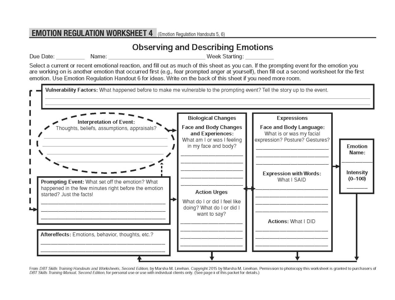 Emotional Regulation Worksheets Free Worksheets Library