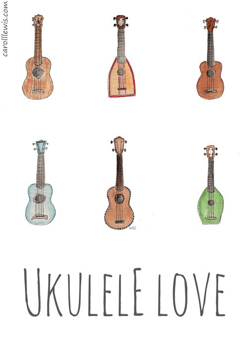 Ukulele Girl Drawing Tumblr