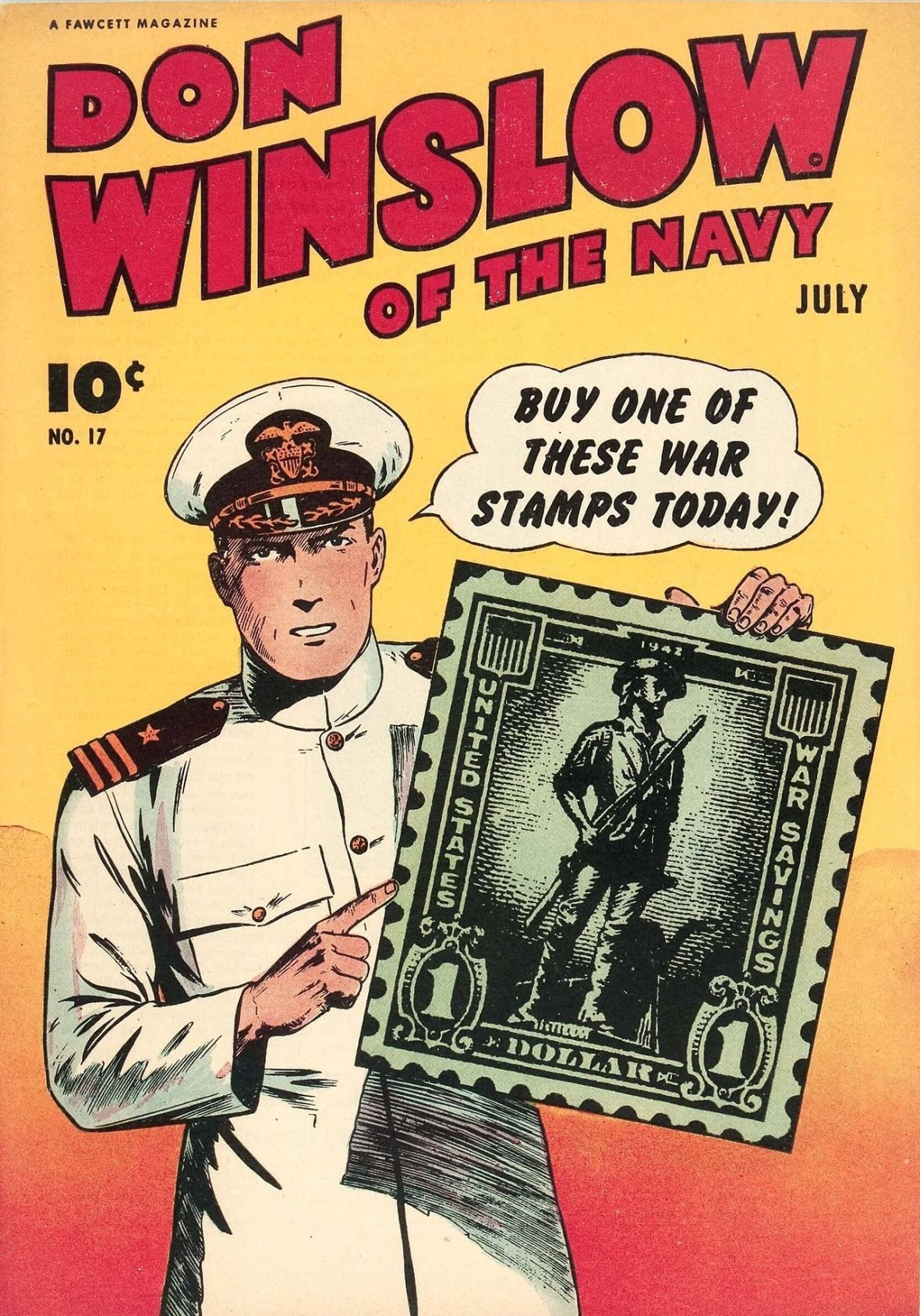 Don Winslow of the Navy - issue No. 17 - Fawcett Publications - 1944