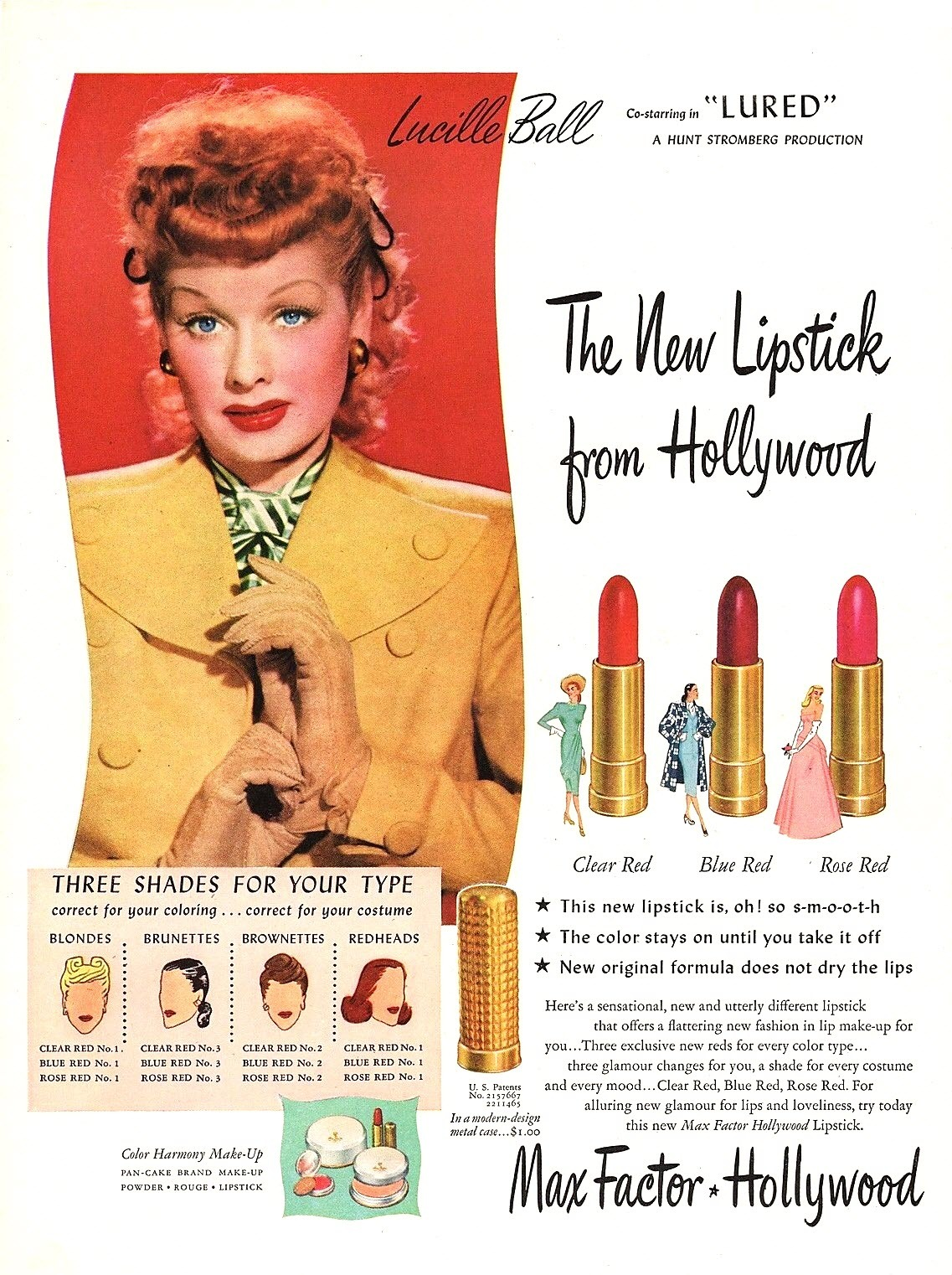 Max Factor featuring Lucille Ball - 1947