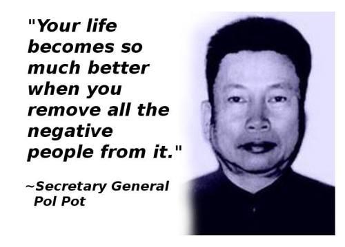 Image result for pol pot negative people