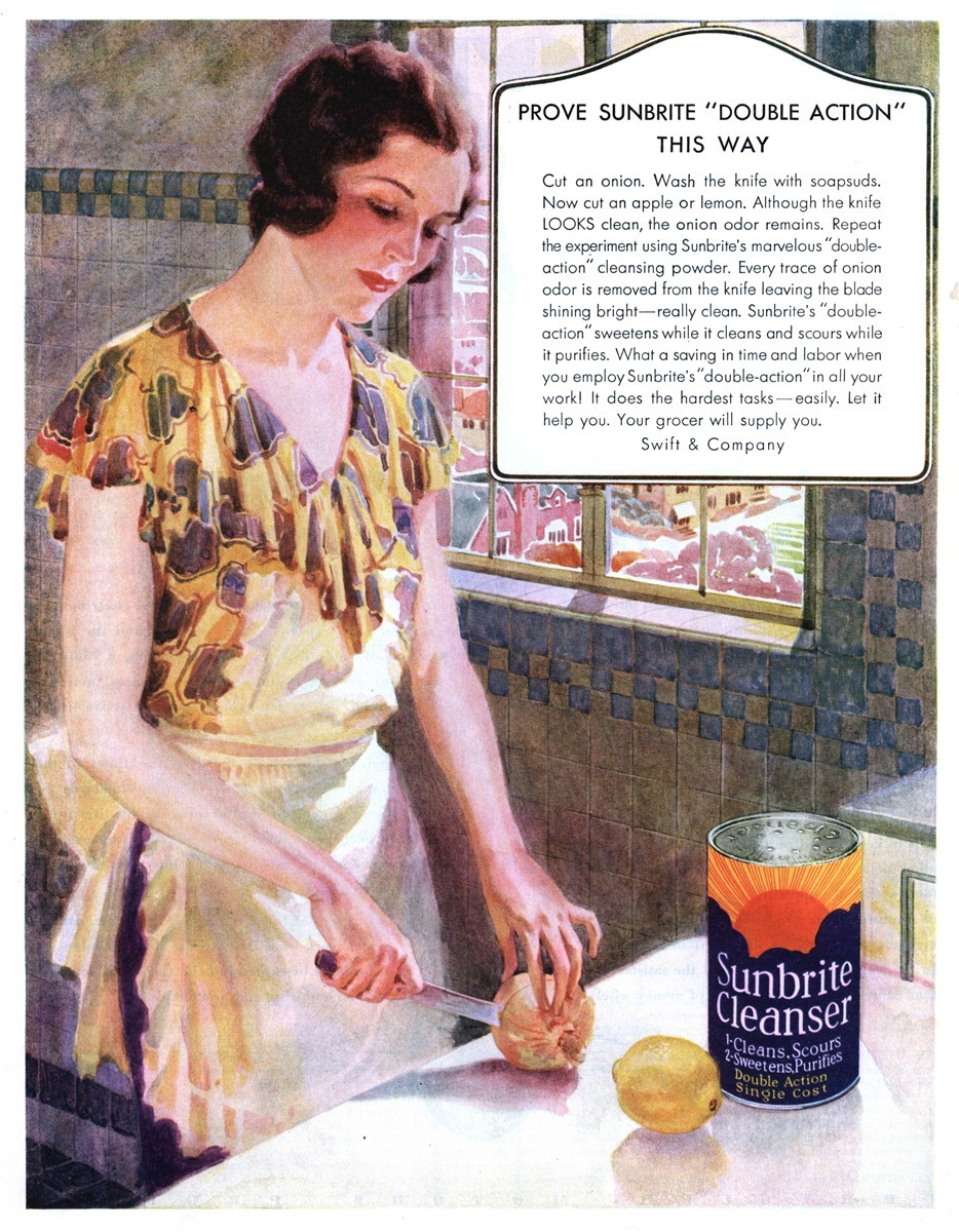 Swift and Company Sunbrite Cleanser - published in The Saturday Evening Post - November 21, 1931