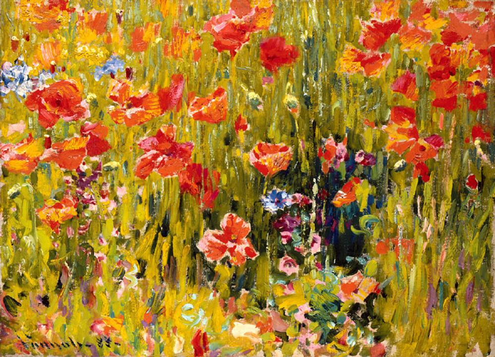 "kafkasapartment: ""Poppies,1888. Robert William Vonnoh. Oil on canvas """