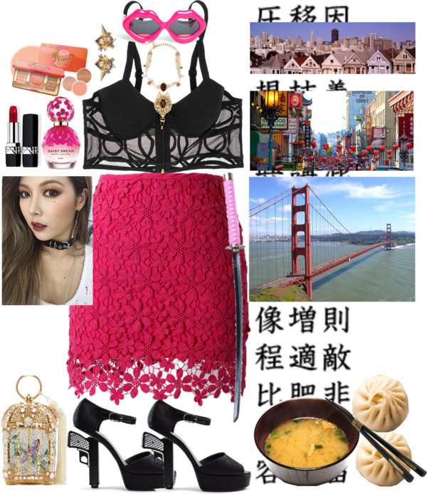 San Francisco by lucilxlu featuring chinese chopsticks