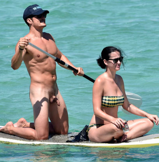 Orlando Bloom naked with Katy Perry