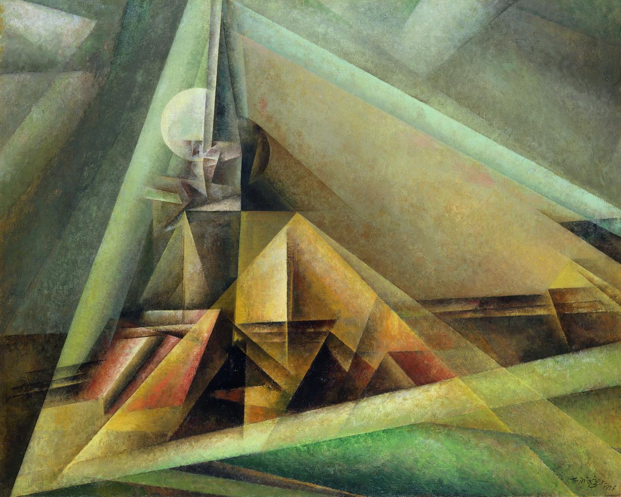 """amare-habeo: """"  Lyonel Feininger (German-American, 1871 – 1956) Gaberndorf I, 1921 oil on canvas, 80 x 100 cm """""""