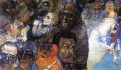 surrealismart:   Heads 1910 Pavel Filonov