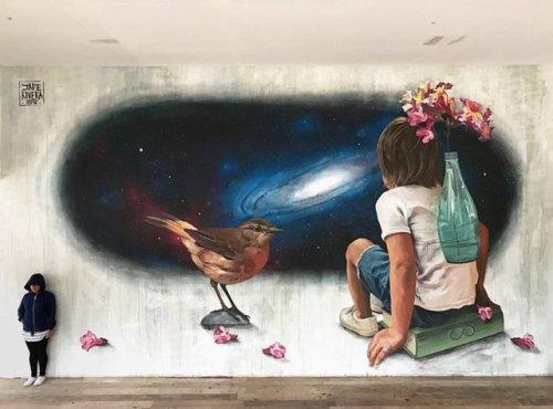 barbarapicci:  (via Streetart News [wall 705] - Jade Rivera, Frederico Draw, William Mophos)  Click for the gallery:https://barbarapicci.com/2016/11/19/streetart-news-705/