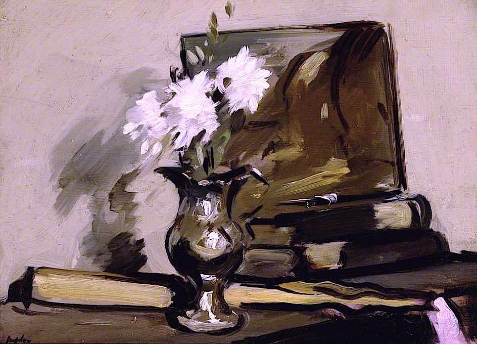 "huariqueje: ""  Flowers in a Silver Jug - Samuel John Peploe British, 1871-1935 Oil on canvas, 25.4 cm (10 in.), x 34.9 cm (13.74 in.) """