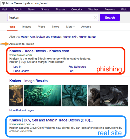 Kraken Phishing Warning | Kraken Blog
