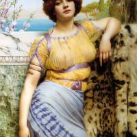 John William Godward - Ionian Dancing Girl (1902)
