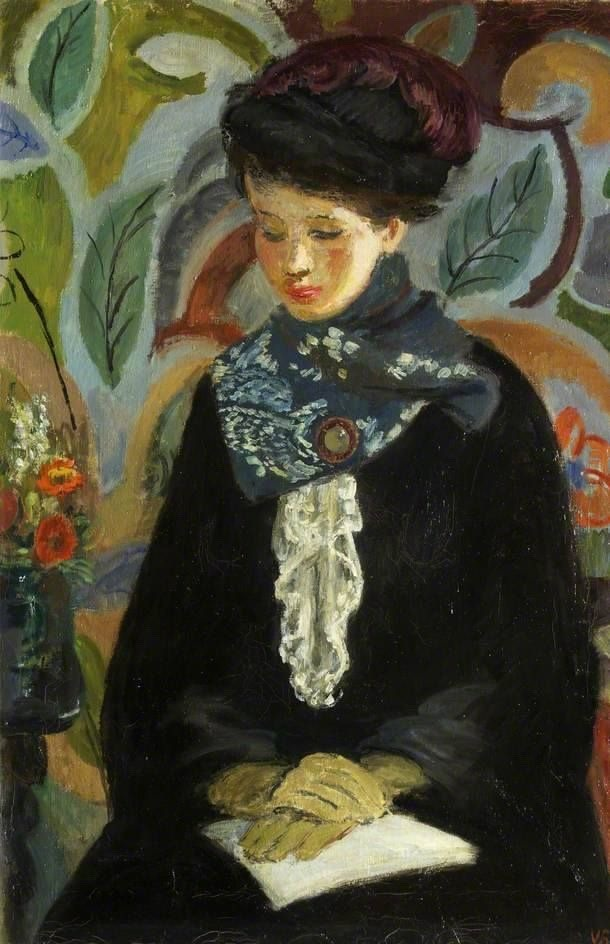 "terminusantequem: ""Vanessa Bell (British, 1879-1961), Lady with a Book, 1945-46. Oil on canvas """