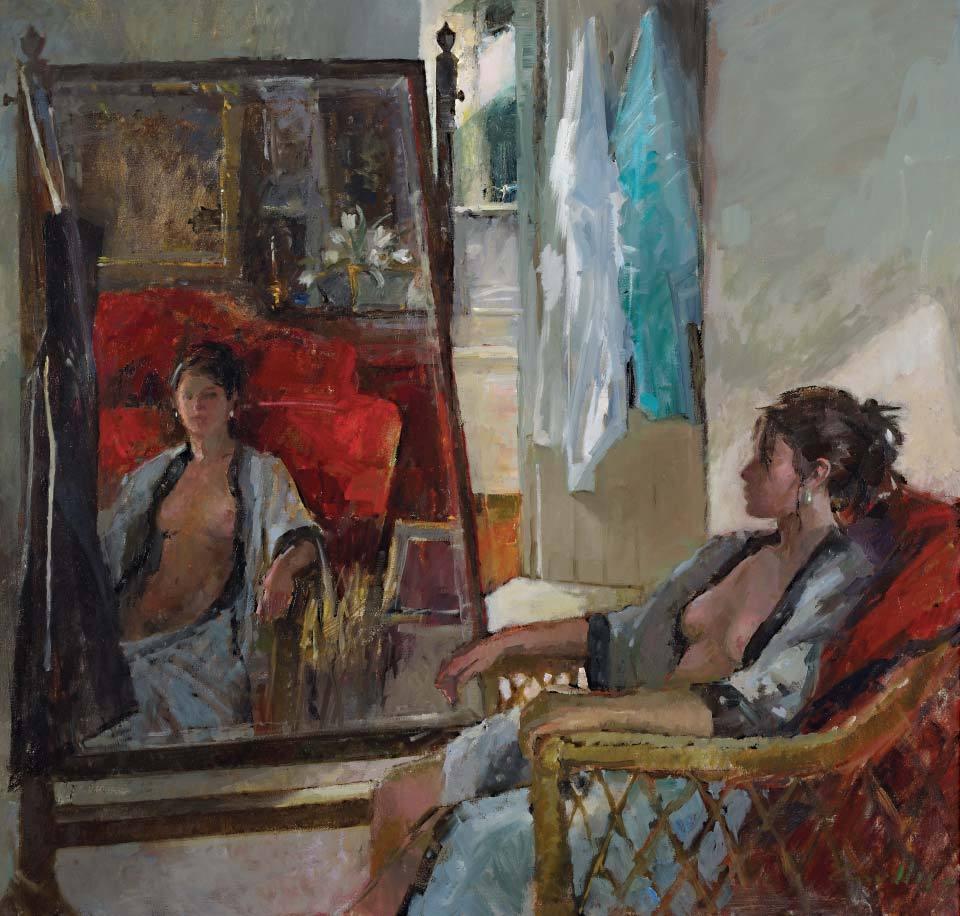 "huariqueje:"" A Studio in France - Jane CorsellisBritish,b.1940-oil on canvas, 30 x 32 cm."""