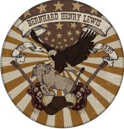 Visuel réalisé pour le groupe The Bernhard Henry Lewis Band, groupe de bon goût ayant eu une durée de vie limitée (un seul et unique concert à guichet fermé), à l'identité visuelle importante. Assurément un des plus beaux T-shirt collector du monde, réalisé à très peu d'exemplaires (1 seul).