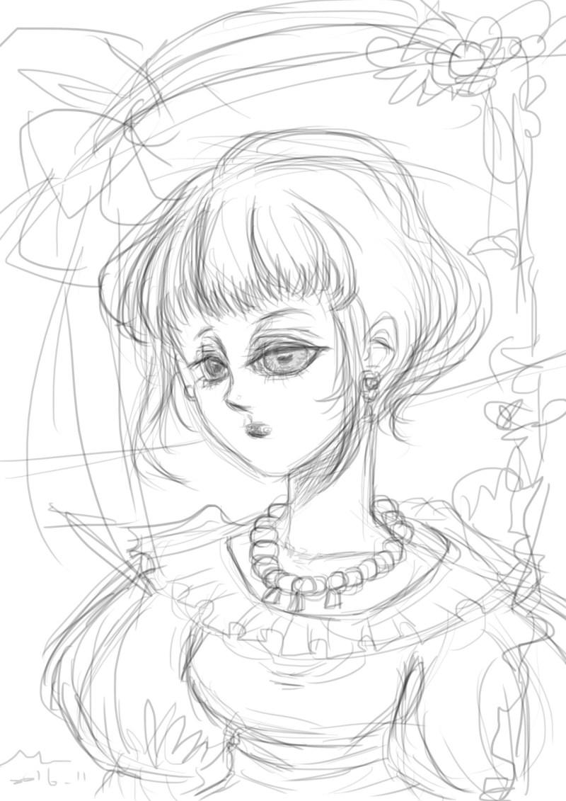 [ MOUMU ILLUSTRATION ] 阿阿為什麼熬夜畫圖感覺特別好呢?不行,矛木身體已經夠差,以後要調整一下。畫得舒服的一張草圖