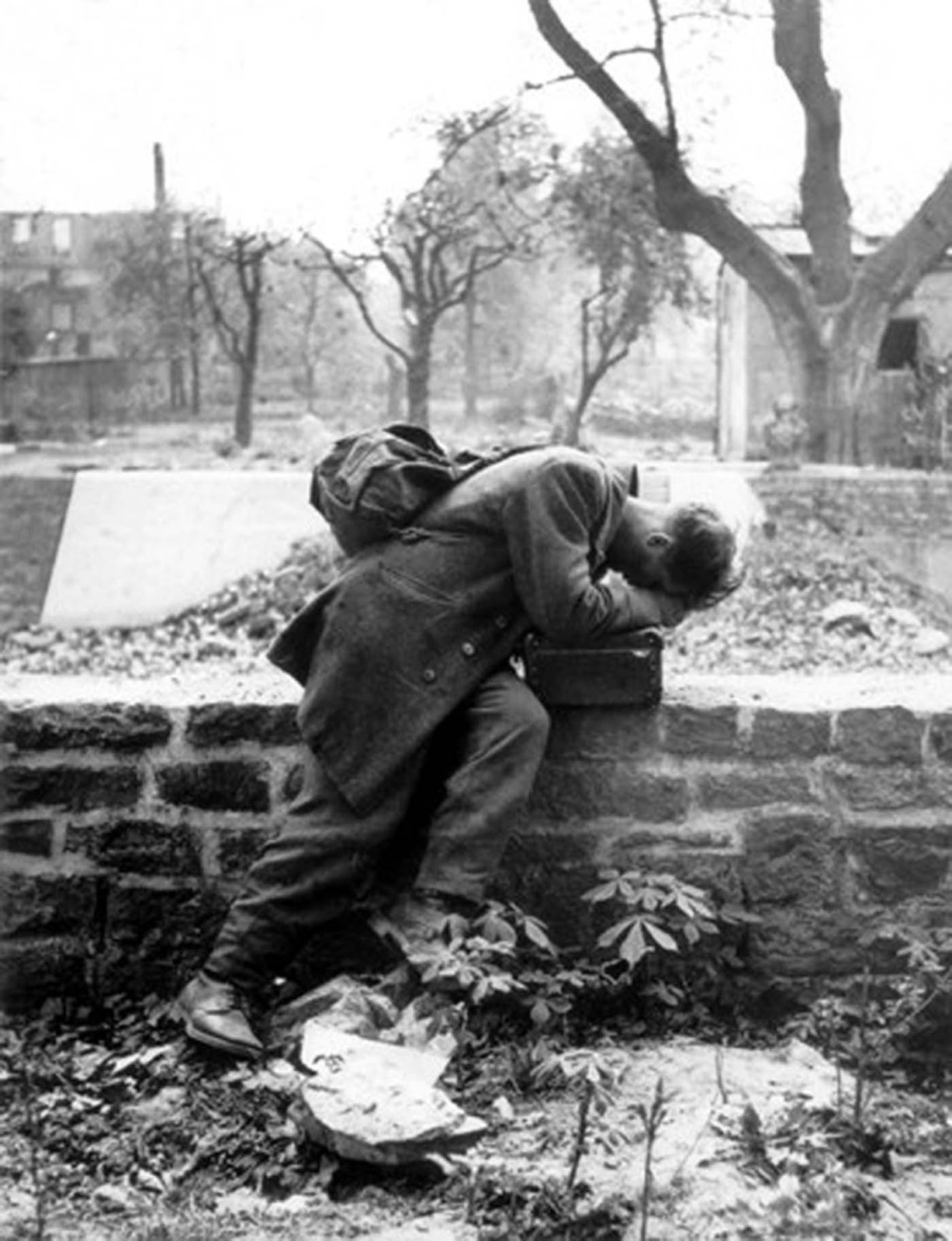 A German sol r returning to his home after WWII who just… – History