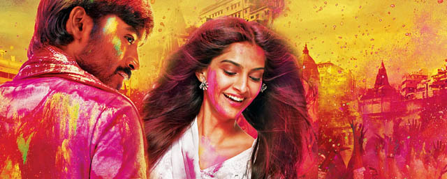Sonam Kapoor,Dhanush,Abhay Deol,Mohammed Zeeshan Ayyub,Swara Bhaskar, Aanand Rai,Himanshu Sharma,A.R. Rahman,2013,Bollywood, Raanjhanaa,Beloved One,138 Dak.,Hintçe,Tamil,Varanasi,Kundan,Zoya,Ambilapathy,