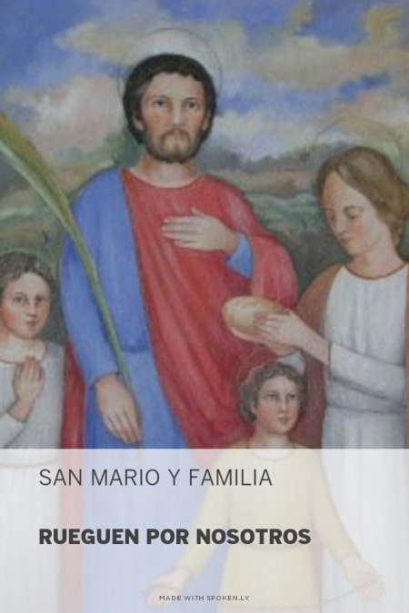 Resultado de imagen para San Mario y familia