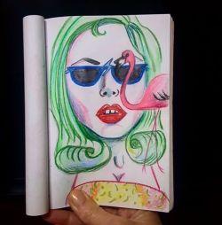 Those damn photo bombing Flamingos! #pencil #doodles #artwork #art #illustration #portrait #sketch #doodle #sketching #ideas #lowbrow #perthartist #perthcreatives #perthy #80s #drawdrawdraw #doodlersanonymous