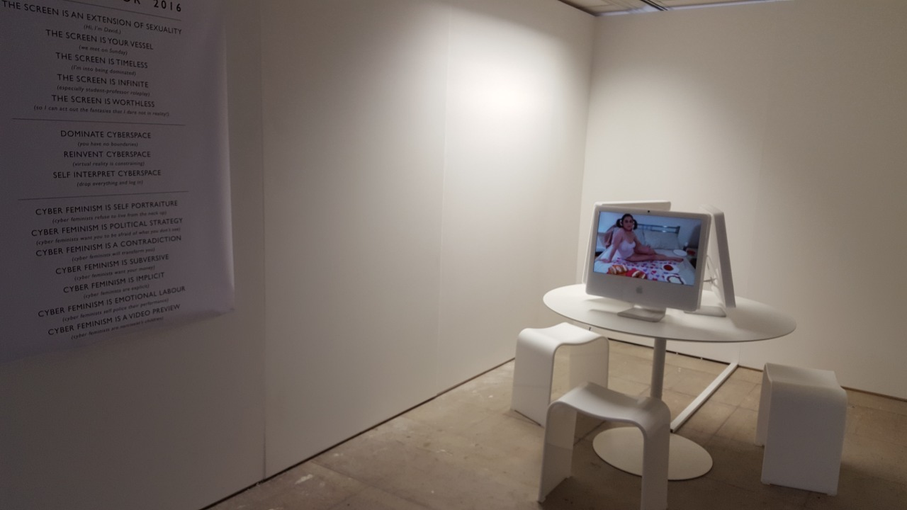 Opening night, work in situ, three channel installation.