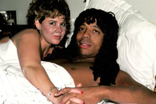 "Rick James and Linda Blair, 1982 ""Linda was incredible  A free"