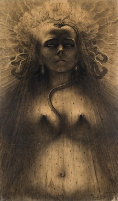 dreamwalkertobe:LIdole de perversité (The Idol of Perversity/L'idolo della perversione) - Jean Delville, 1891