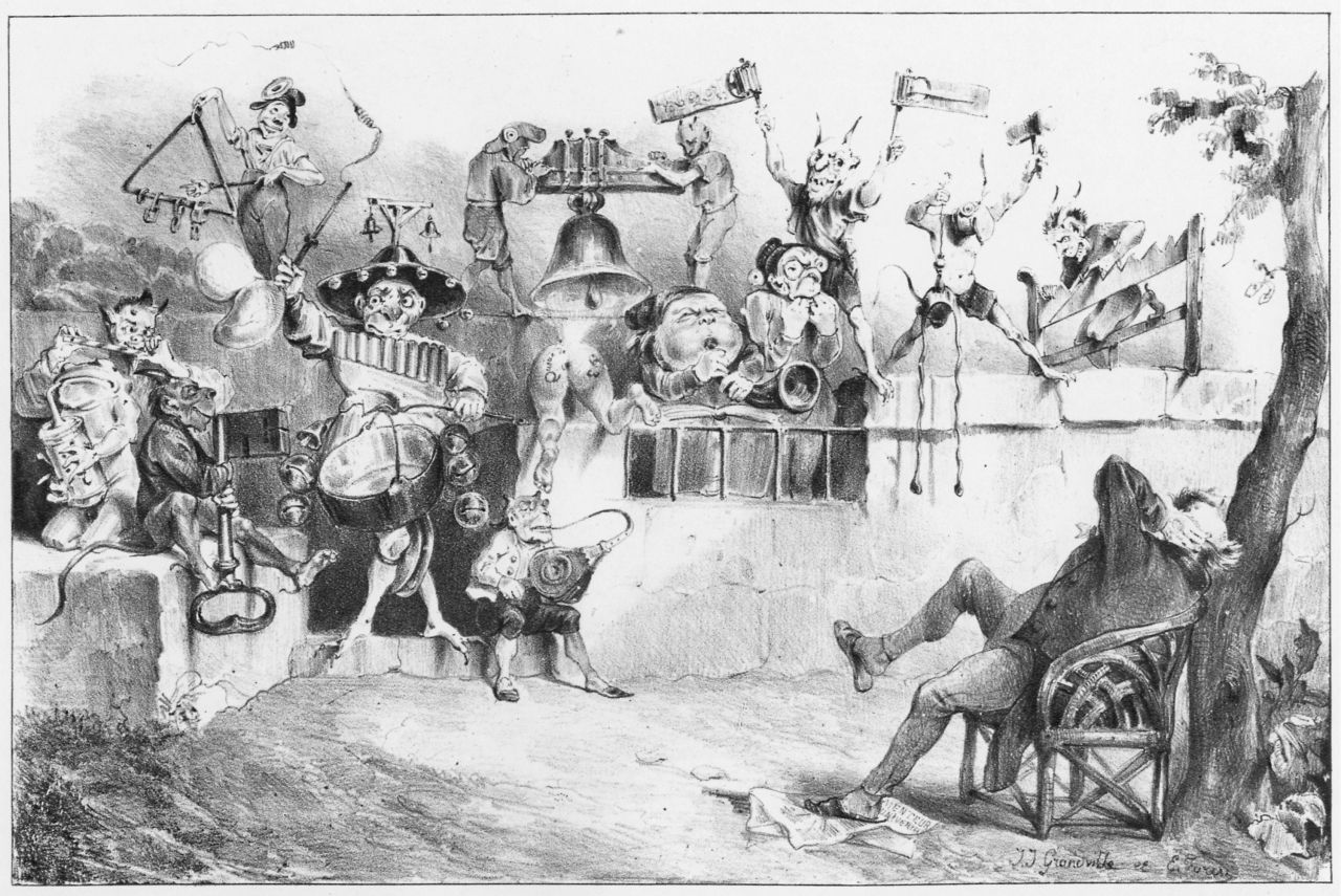 Grandville, Eine Katzenmusik, La Caricature, Paris 1. September 1831