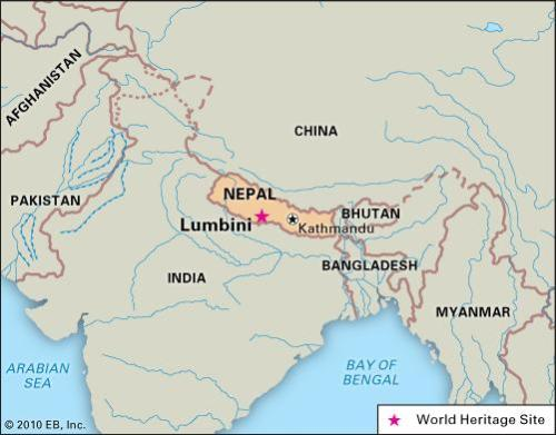 Image result for lumbini on map