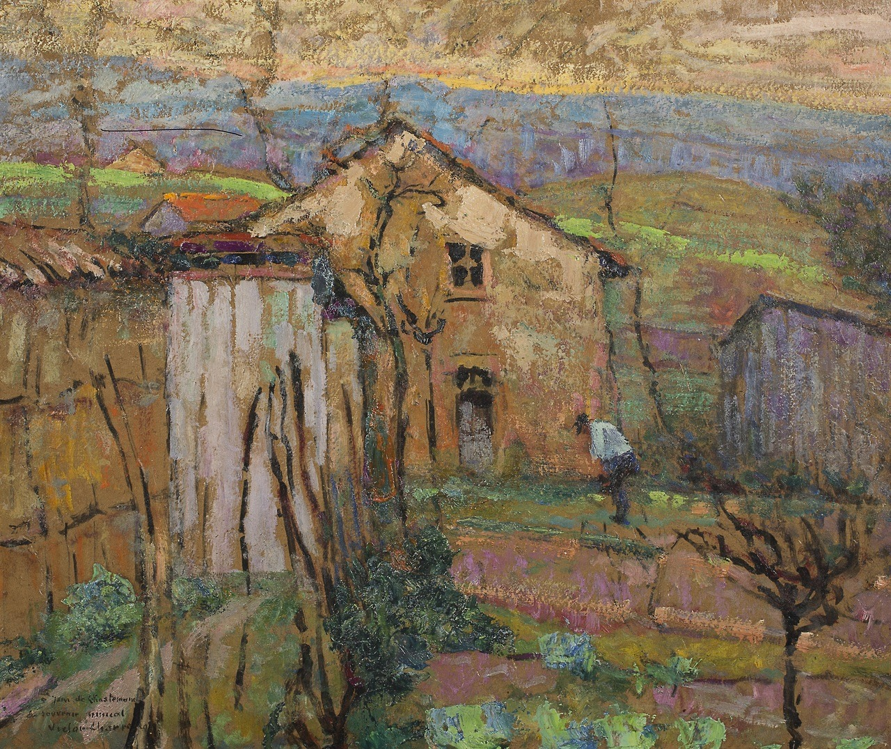 "amare-habeo: "" Victor Charreton (French, 1864-1936) House in a landscape (Maison dans un paysage), N/D Oil on panel, 46 x 50 cm """