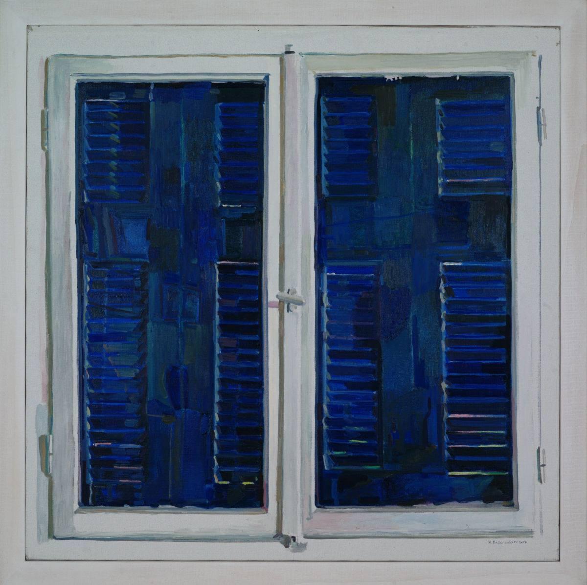 "amare-habeo: "" Kostas Papanikolaou (Greek, born 1959) Window representing itself, 2007 Oil on canvas, 80 x 80 cm """