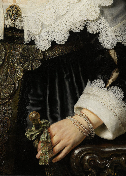 "sforzinda: """" Portrait of a Woman (detail), Rembrandt, 1639 "" """