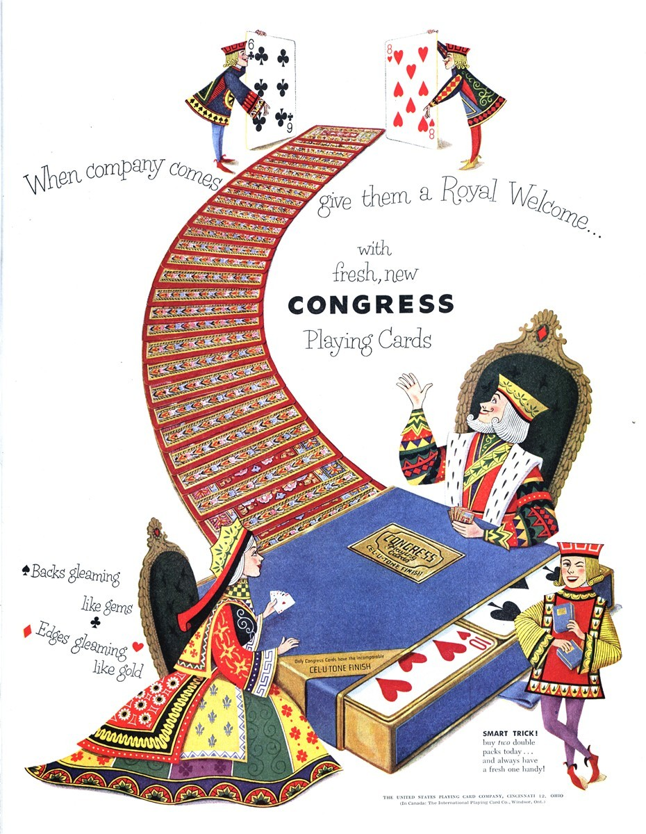 Congress Playing Cards/The United States Playing Card Company - published in The Saturday Evening Post - December 6, 1952