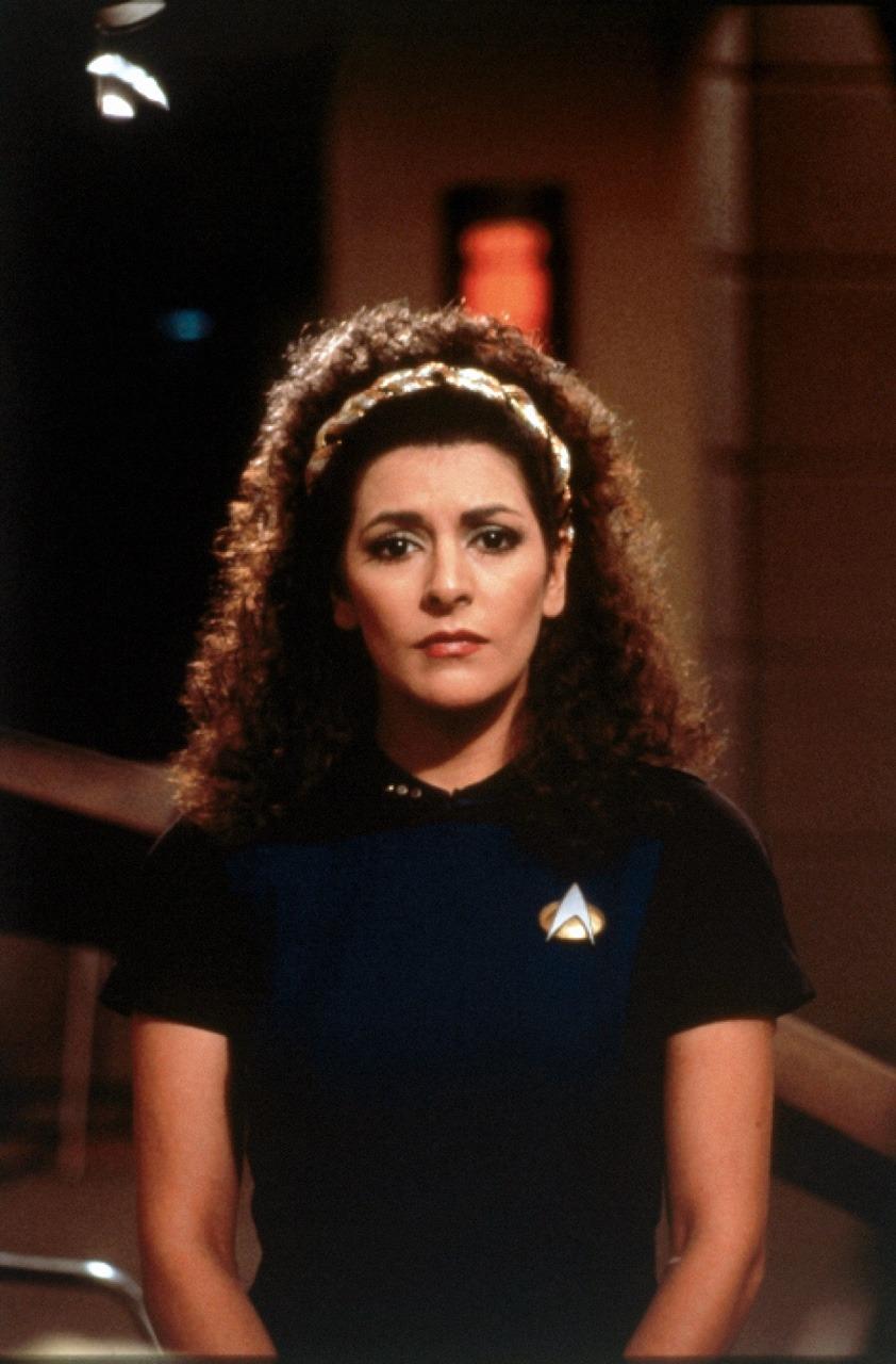 """Marina Sirtis as Deanna Troi (""""Encounter at… – Star Trek"""