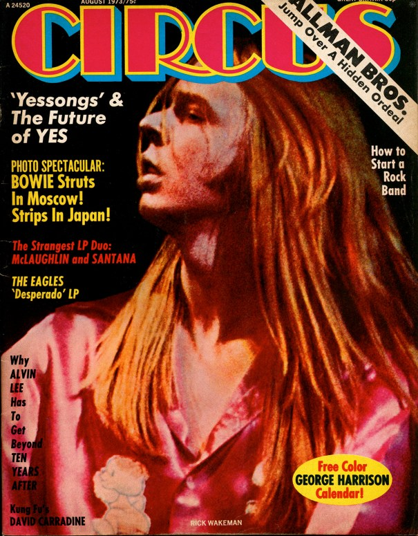 Yes Rick Wakeman Cover ArticleFrom the August 1973 of CIRCUS