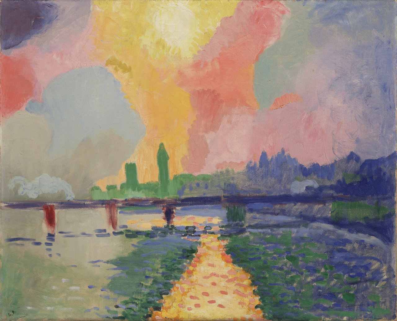 "themodernartists: ""André Derain (1880-1954), Charing Cross Bridge, 1905-1906. Oil on canvas. """