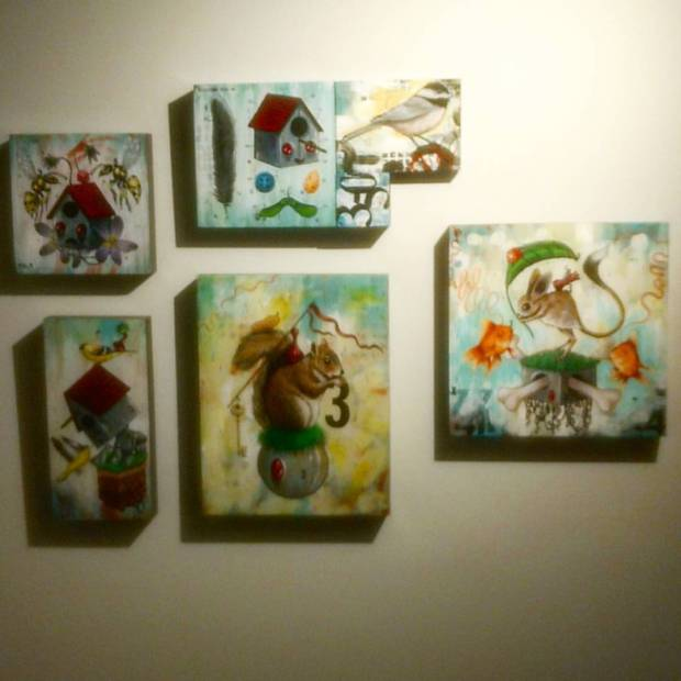 Some of my work @vargallery …… One even has a red dot