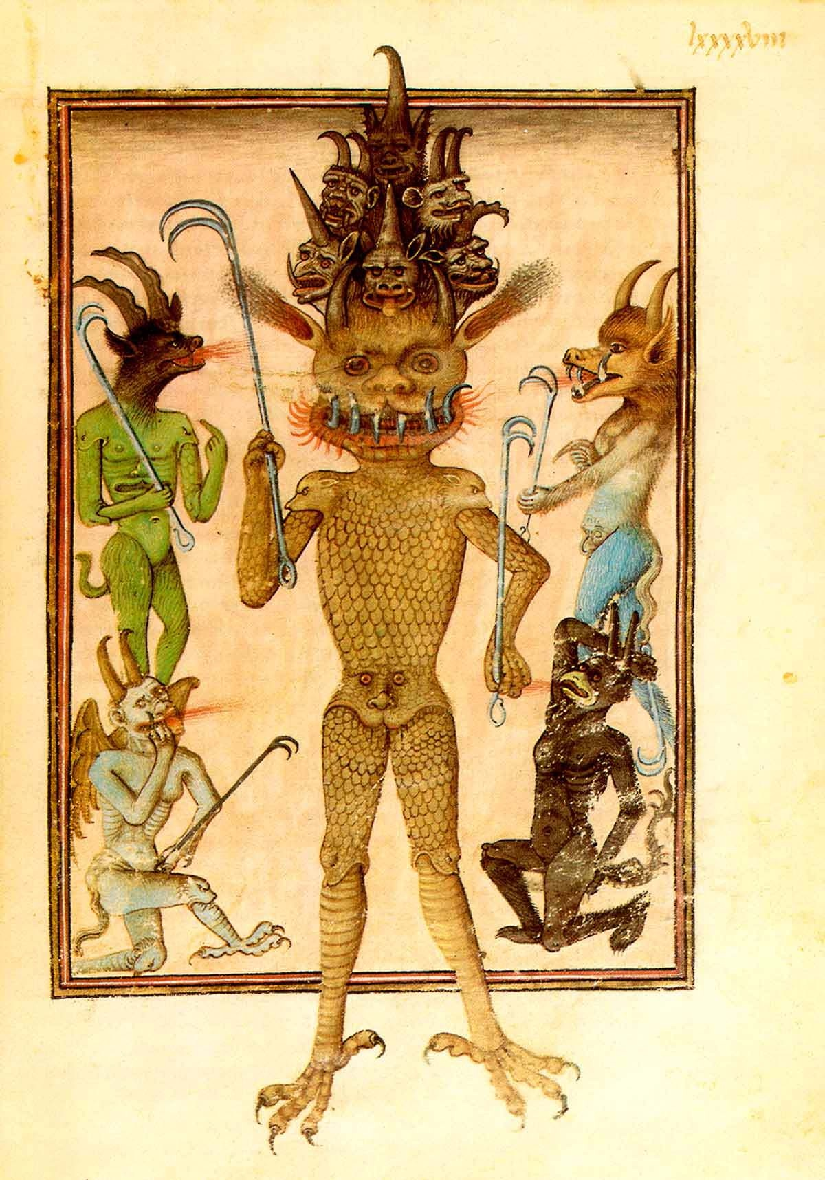 Bodleian Teufel via Albrecht Classen, The Epistemological Function of Monsters in the Middle Ages, 10. Februar 2013