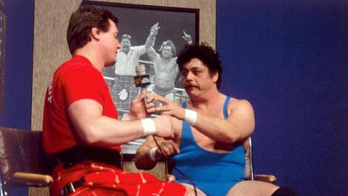 Image result for rowdy roddy piper BEATS UP FRANK WILLIAMS GIFS