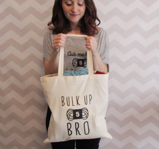 funny yarn tote bag
