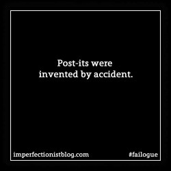 failogue:It's hard to imagine a world without Post-its, but that's where we would be if not for a series of mistakes. http://bit.ly/2ihh076