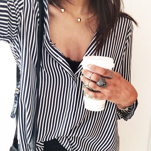 $19.99 Striped blouse in black and white. Order »here« !