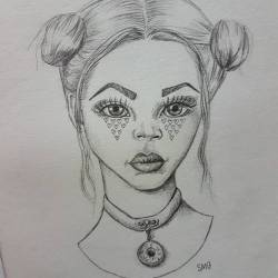 Inspired by heart shaped tears, donut necklaces and Princess Leila buns #pencildrawing #drawdrawdraw #illustration #journal #perthcreatives #perthartist #drawing #perthstagram #doodles #sketch #portrait #sketching #artsy #art #perthpop #perthisok #waart #fashionart #models #vogue #bohostyle