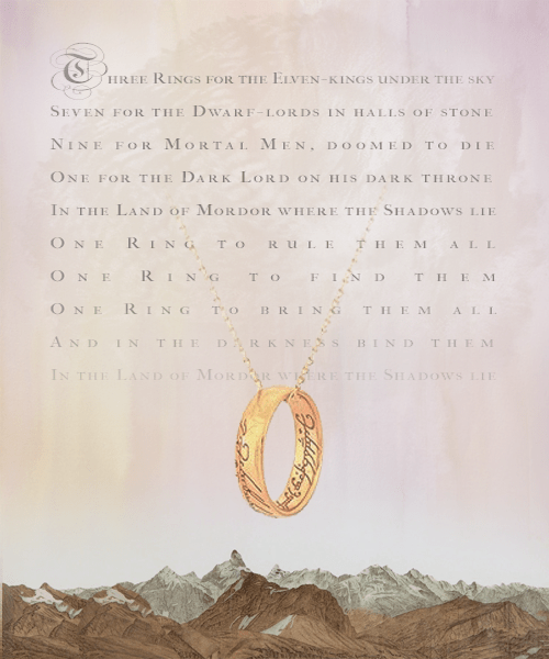 One All Rings Lord English Them Rule Ring Poem