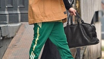 f80d05cd1 Kanye in Calabasas sweatpants Yeezy boots