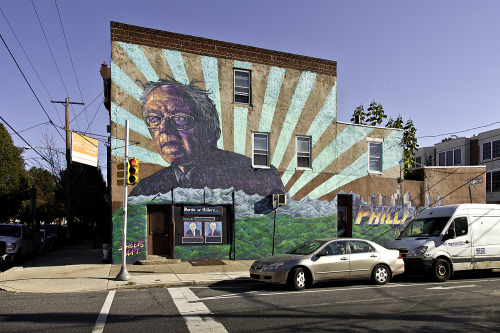 patgavin:  Bernie Sanders mural, 22nd and Catherine, Philadelphia, Pa
